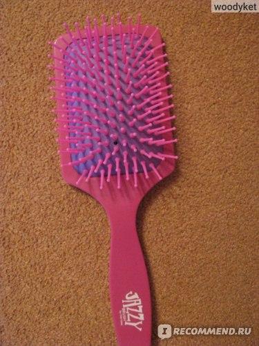 Щетка для волос Harizma массажная розовая h10626-0507 фото