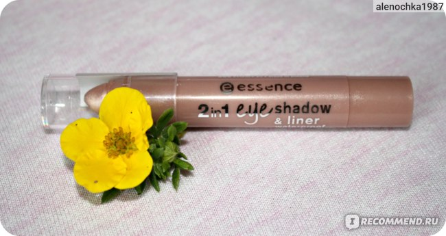 Тени-карандаш для век Essence 2 IN 1 EYESHADOW & LINER waterproof фото