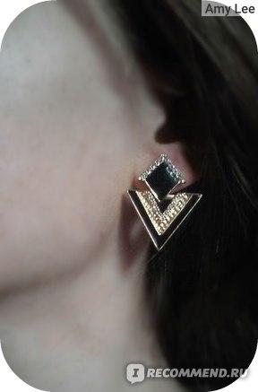 Серьги Aliexpress Triangle Geometric Dangle Earrings фото