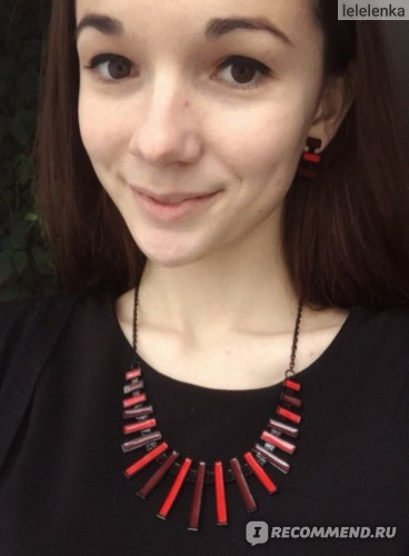 Набор бижутерии Aliexpress American Jewelry Epoxy Necklaces Long Pendant Fashion Elegant Alloy Metal Rectangle Charms Bijoux For Promotional Gift DFX-359 фото