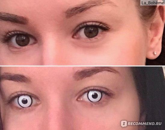 Перекрывает даже очень темные глаза)