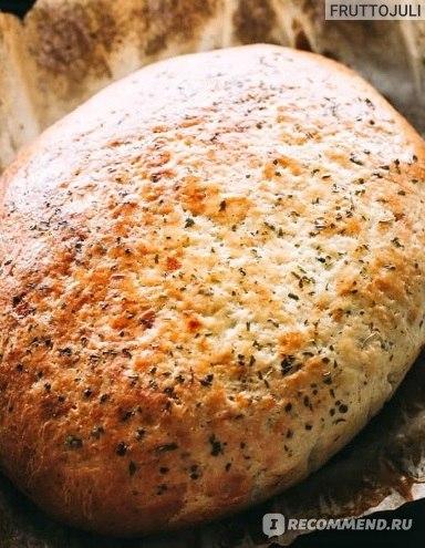 Бездрожжевой Итальянский хлеб с травами в мультиварке!