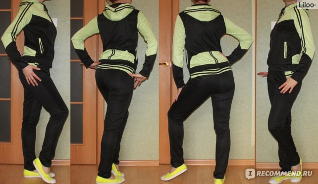 Спортивный костюм AliExpress New spring 2014 Han edition sports leisure clothing fleece suit фото