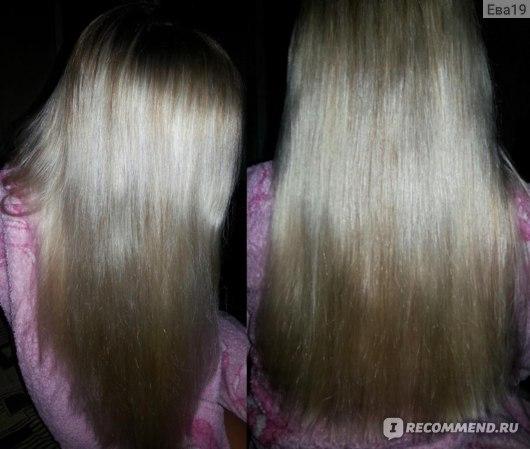 Волосы после первого применения маски.