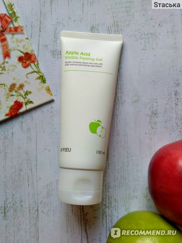 Пилинг-гель A'PIEU Apple Acid Visible Peeling Gel / Скатка с экстрактом яблока и АНА-кислотами фото