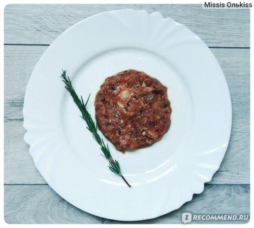 Полуфабрикаты Мираторг Тартар из говядины (основа для приготовления) фото