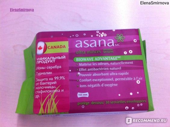Asana Ежедневные прокладки с турмалином фото