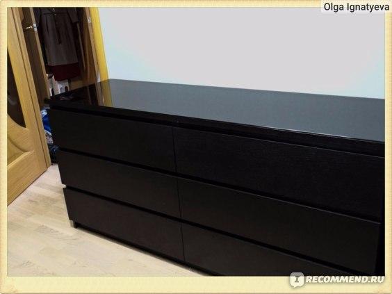 Общий вид комода МАЛЬМ с 6-ю ящиками