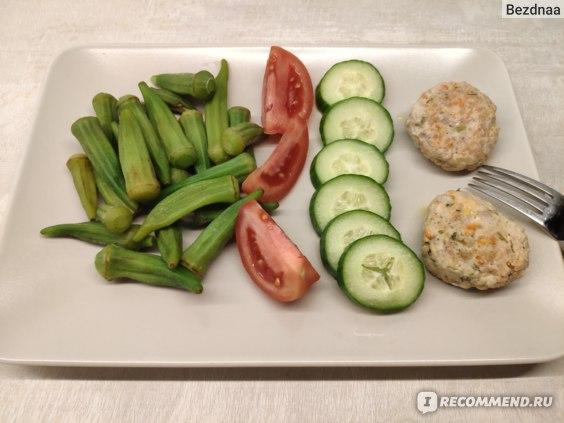 Бамия с овощами