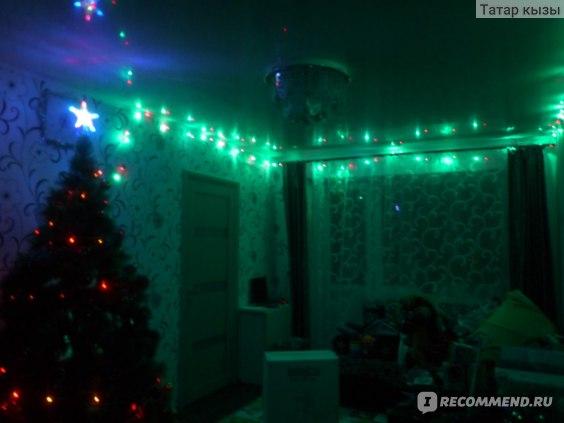 Рождественские огни для елочки LED цветные 100-400 лампочек фото