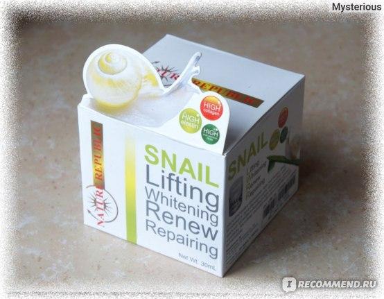 Крем для Лица NATURE REPUBLIC Snail Lifting Whitening Renew Repairing