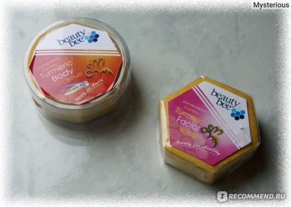 Скраб для Лица BEAUTY BEE Turmeric Honey Facial Scrub и Скраб для Тела BEAUTY BEE Turmeric Honey Body Scrub