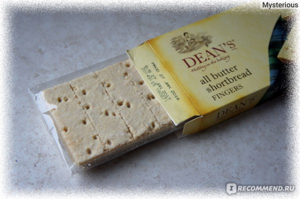 Печенье DEAN'S All Butter Shortbread Fingers - СОСТАВ