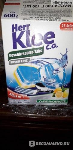 Таблетки для посудомоечной машины Klee Silver Line Alles in 1 фото