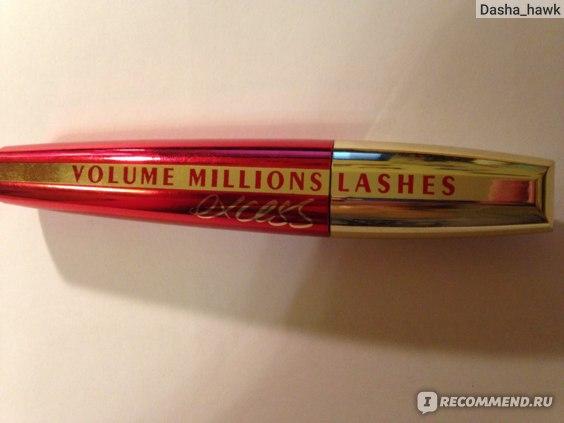 Тушь для ресниц L'Oreal Paris Volume Millions Lashes Excess Noir фото