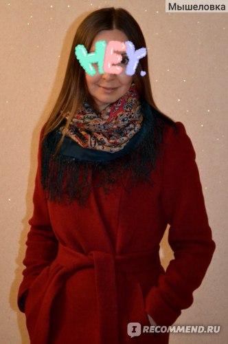 """Платок Павловопосадская платочная мануфактура  """"Рождественский пряник"""" вид 1805 фото"""
