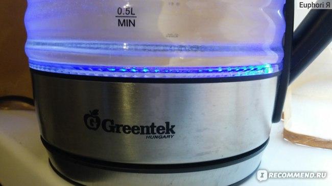 Чайник GREENTEK EKG-1749- светодиодная подсветка