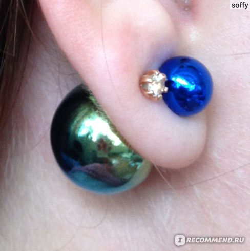 Серьги Aliexpress ne429 2015 NEW pearl earrings fashion trendy hot coated printed double created pearls ear stud earrings for women Free shipping фото