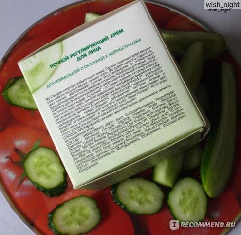 """Крем для лица ЭЛЬФА Dr.Sante """"Cucumber ночной регулирующий"""" для нормальной и склонной к жирности кожи фото"""