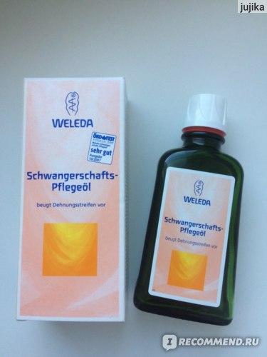 Масло от растяжек Weleda Schwangerschafts-Pflegeöl фото