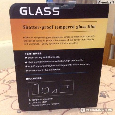 Защитное стекло на экран Screen protector glass 9H tempered для iphone 5, 5s фото