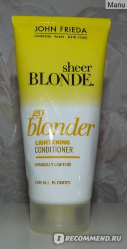 Осветляющий Кондиционер John Frieda Sheer Blonde Go Blonder фото