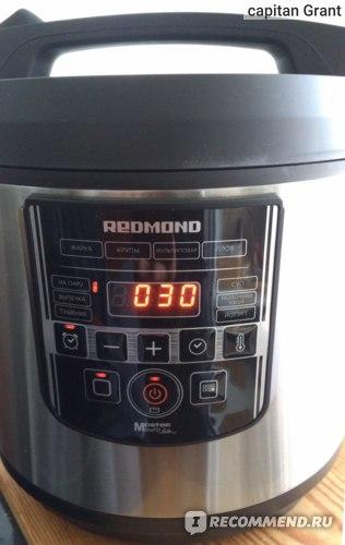 Панель управления при приготовлении рисовой каши.