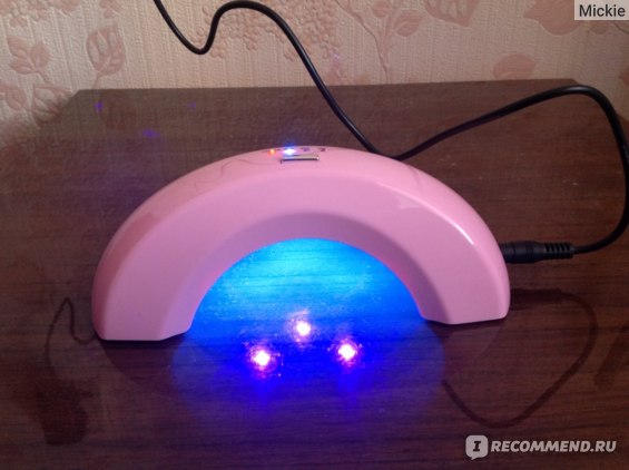 LED лампа для полимеризации гель-лака Ebay New Mini 6W LED UV Gel Cure Polish Nail Art Lamp Light Dryer Tool Pink фото