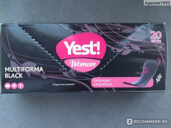 Прокладки ежедневные Yest! Woman Multiforma Black фото