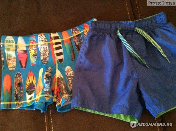 Плавки и шорты для бассейна, ни хлорка ни соль не повлияло на цвет, остались такими же яркими как и купила