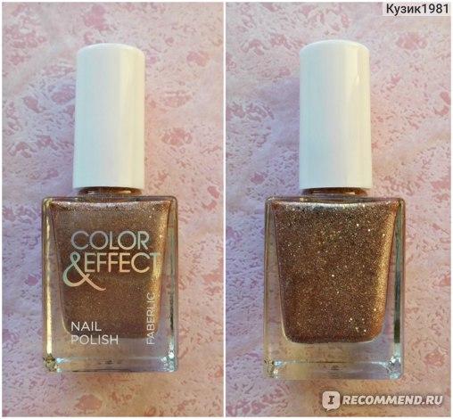 Лак для ногтей Faberlic Color & Effect серии Glam Team