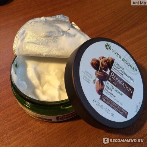 Маска для волос Ив Роше / Yves Rocher Экспресс-Маска для Восстановления с Жожоба и Каритэ