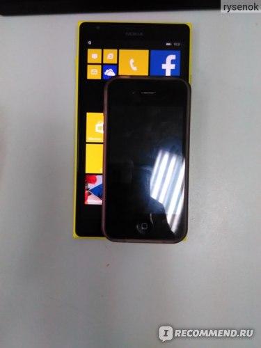 Lumia 1520 vs iPhone 4