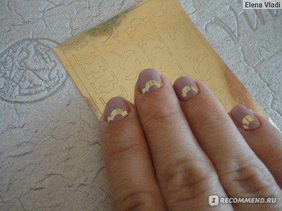 Наклейки для ногтей Арт слайдер Металлизированные фото