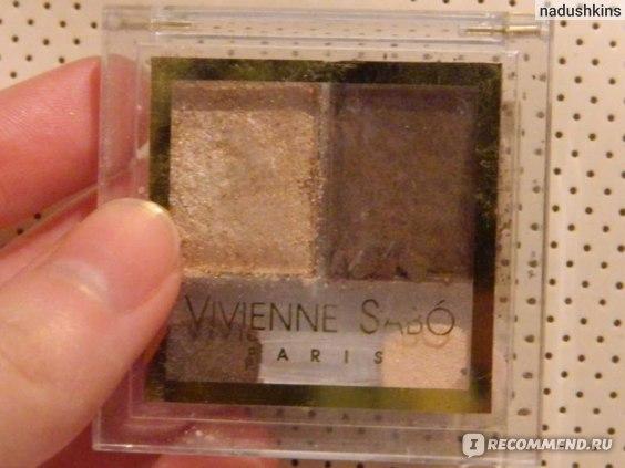 Тени для век Vivienne sabo двухцветные фото