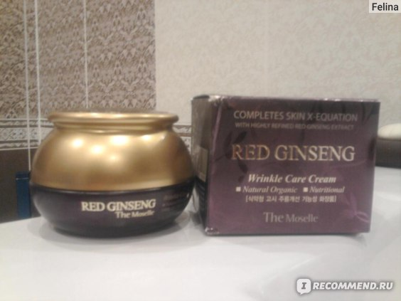 Крем для лица The Moselle Red Ginseng Wrinkle Care Cream фото