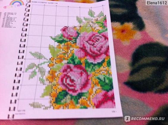 Китайский набор для вышивания DMC Cross Stitch Kits Red Rose Flower Teapot High Quality фото