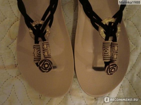 Сандалии Aliexpress Women sandal flip flops flat sandals Rushed Shoes WOMEN Bohemia New 2014 Summer cro slippers jelly Female Beaded brand фото