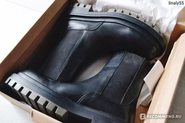 Ботильоны ZARA кожаные на рифленой подошве арт. 1107/610 фото