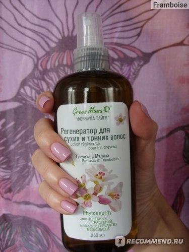 Спрей для волос GREEN MAMA Регенератор для сухих и тонких «Гречиха и малина» фото