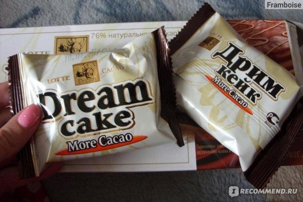 Пирожное  Lotte шоколадное с заварным кремом Dream cake фото
