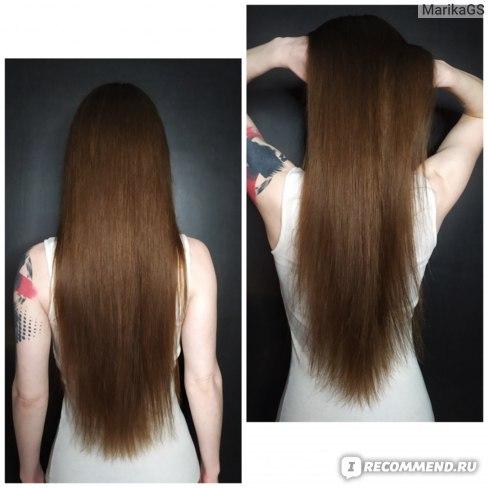 Волосы после использования шампуня и кондиционера Ocrys FULL-BODY - плотность и объём