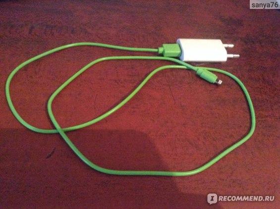 новый кабель вместе с родной  вилкой