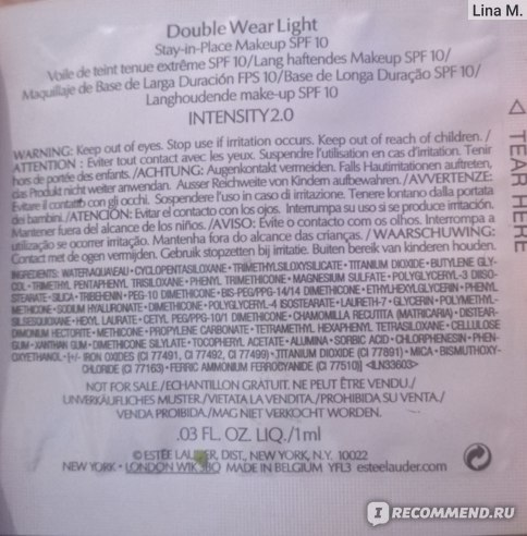 Тональный крем Estee Lauder Double Wear Light фото