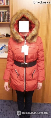 Куртка AliExpress New 2014 jacket winter coat thicken Slim female raccoon fur collar and long coat women parka winter coat plus size S-4XL LW60912 фото