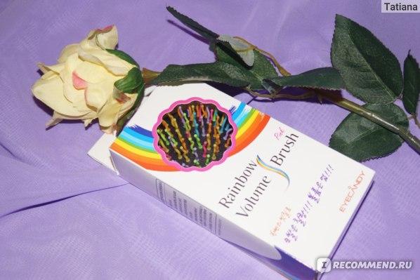 Расческа-радуга Lady Pink Eyecandy Rainbow Volume Brush с зеркалом фото