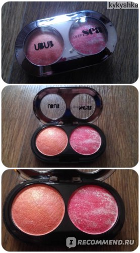 Запеченные румяна Aliexpress New Arrival Baked Blush Makeup Charming Huan 2 Color Baking Blusher Blush By UBUB фото