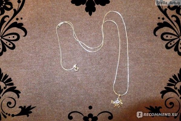 Кулон Valtera подарочный -  серебряная рыбка  фото