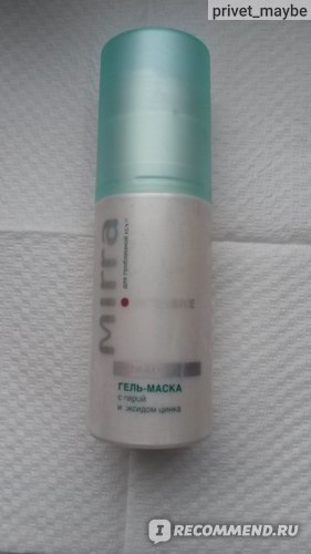 МИРРА Гель-маска с серой и оксидом цинка
