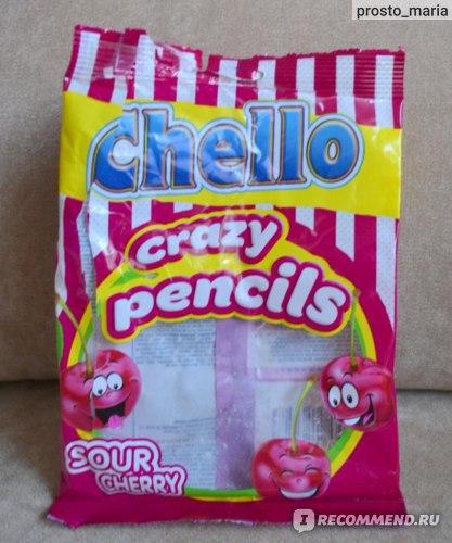 Жевательный мармелад Chello crazy pencils со вкусом вишни фото